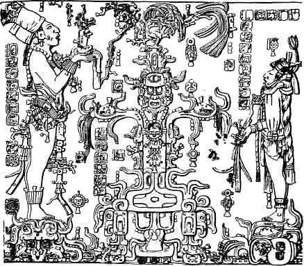 Figura 2. Panel de la Cruz Foliada, de Palenque.